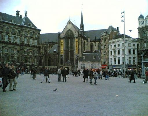 Amsterdam Netherlands The Dutch Royal Palace on Dam Square, The Netherlands.