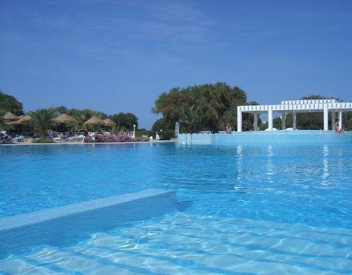 The swimming pool at the resort in Djerba., Tunisia