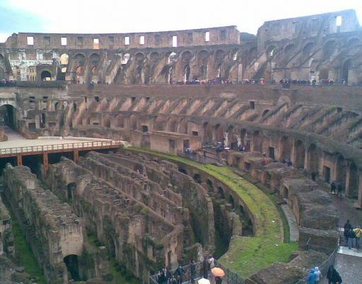 Photo of the inside stadium of the Colosseum. Rome Italy Europe