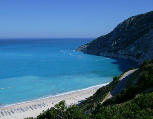 Pictures of the beaches around Kefalonia., Greece