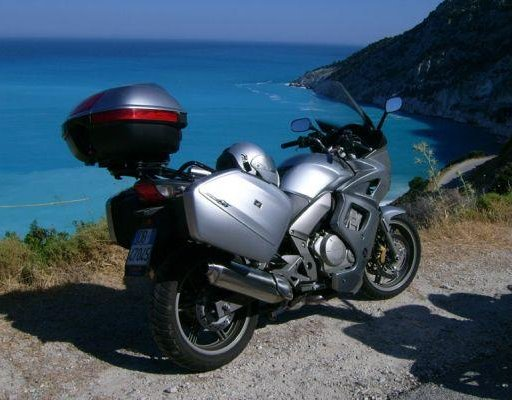 Photo of our motor bikes in Greece., Greece