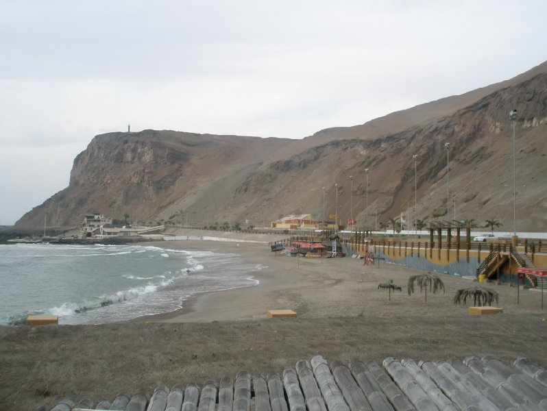 Arica Chile Cape Arica and El Morro de Arica.