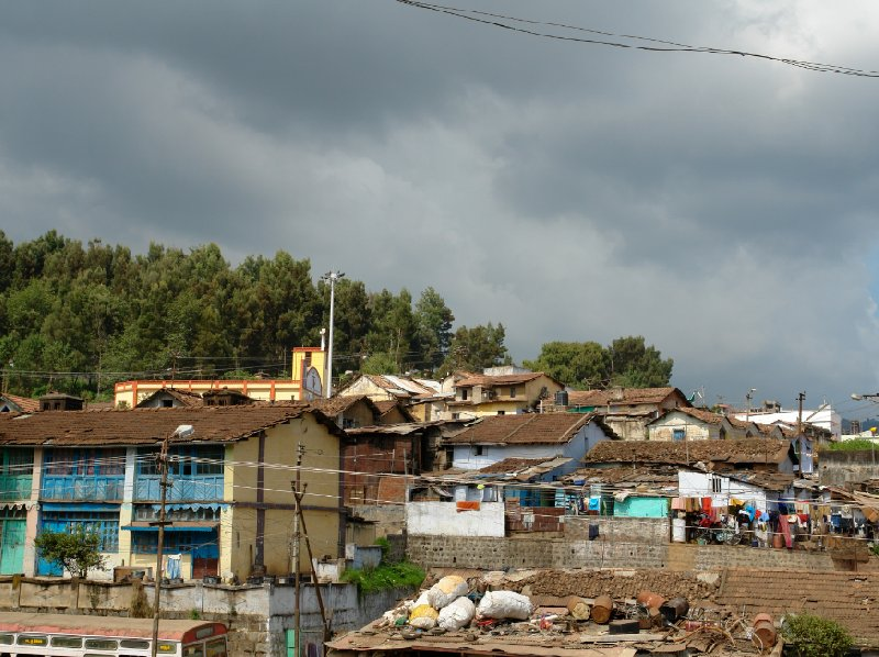 Photos of the Indian station slums., Kochi India