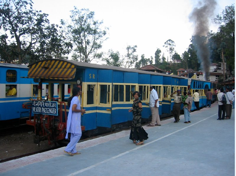 Boarding the night train in Kochi., India