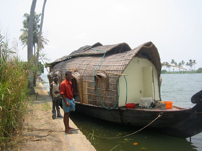 Ready for our floating home in Kerala., India