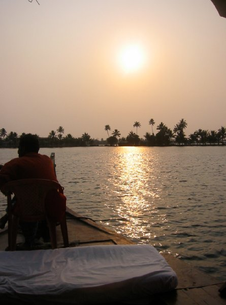 Sunset photos of the river, Kerala., India