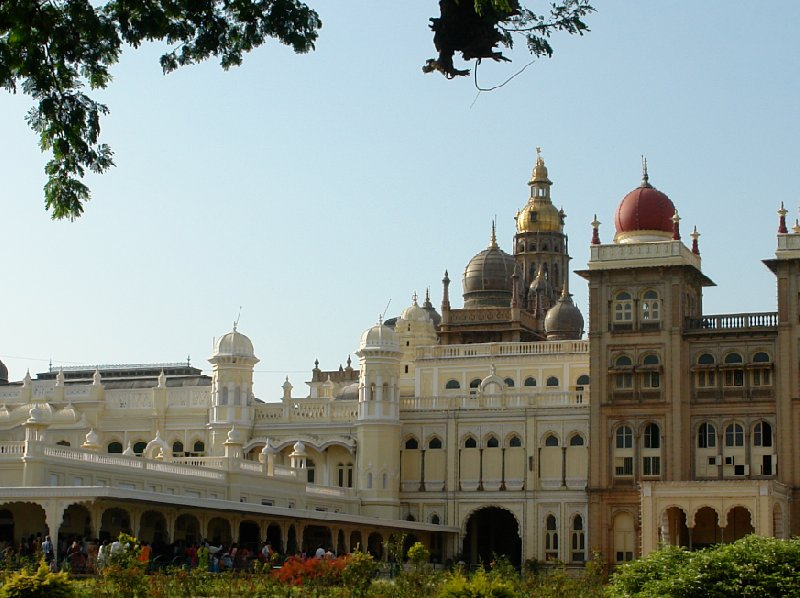 Panoramic photos of the Mysore Palace Ground., India