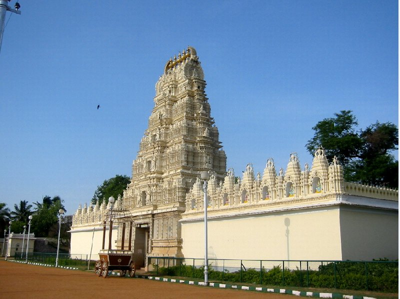 Photos of the Sri Bhuvaneswari temple in Mysore, India., India
