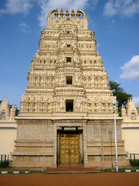 The Sri Bhuvaneswari temple in Mysore, India., India