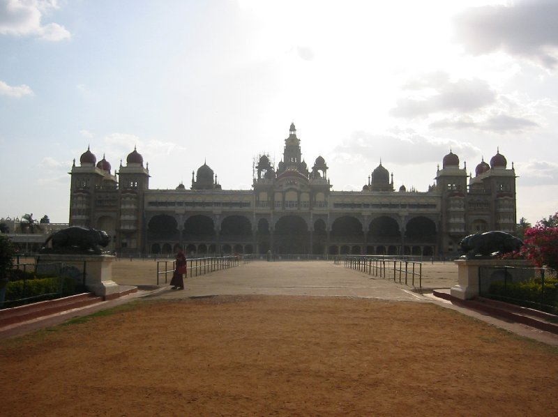 Front view of the Mysore Palace, India., India