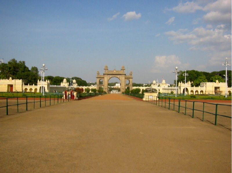 Walking towards the Mysore Palace, Karnataka, India., India