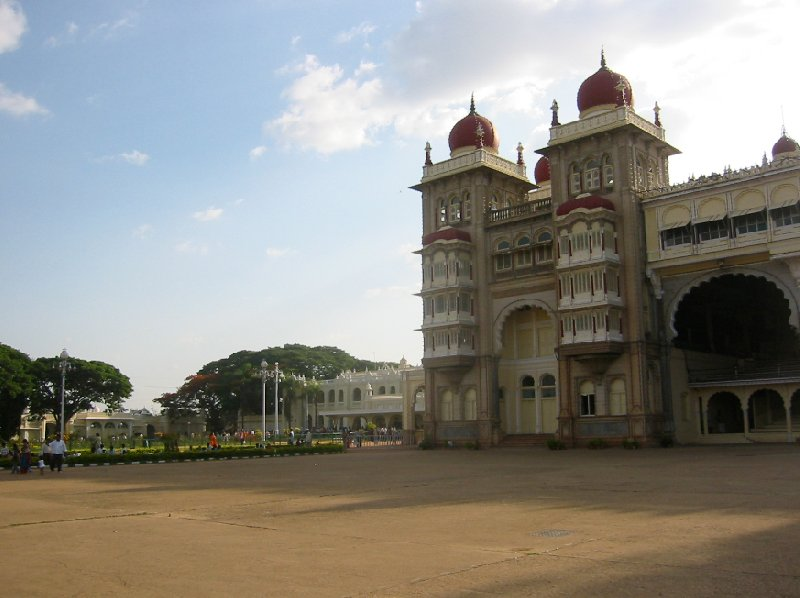 Pictures of the Mysore Palace in India., India