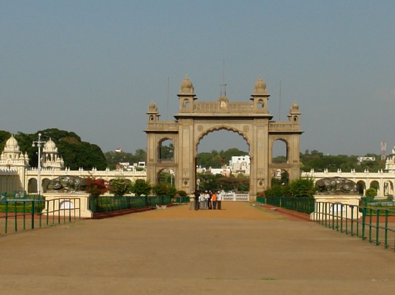 The gates to the Mysore Palace in India., Mysore India