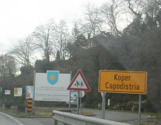 Roadsigns in, Portoroz Slovenia