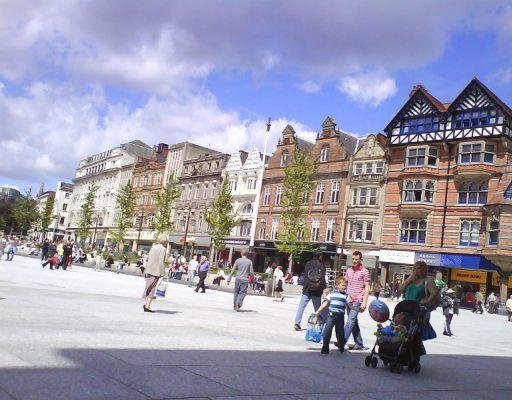 Photos of Old Market Square in Nottingham, United Kingdom., Nottingham United Kingdom
