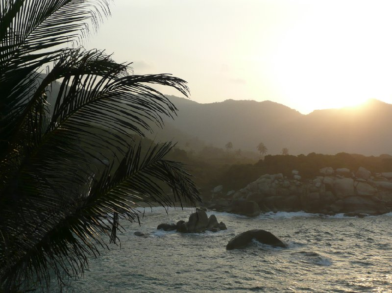 Sunset in the Parque Tayrona, Colombia., Colombia