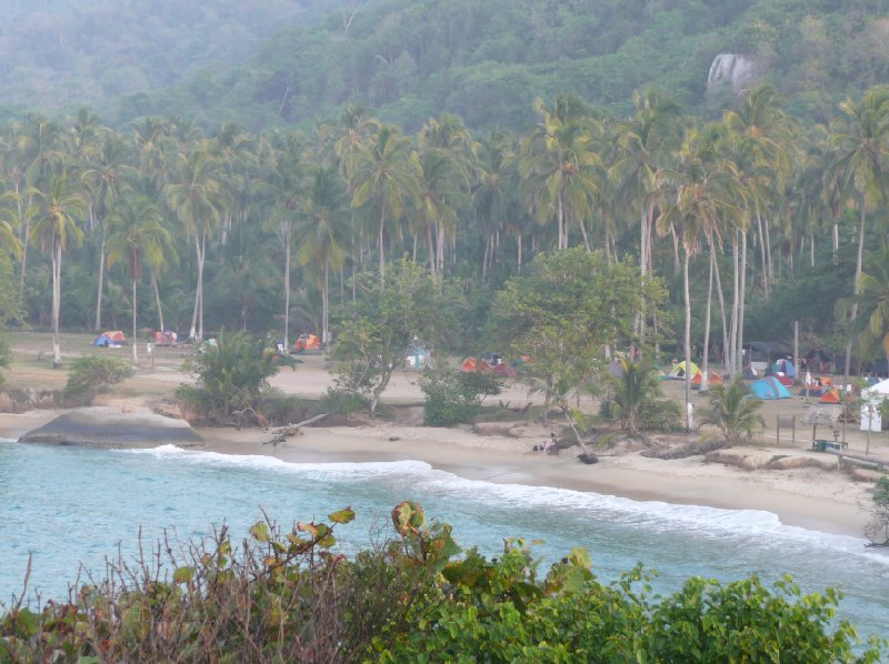 Panoramic photo of the bay in Tayrona Park, Colombia., Santa Marta Colombia