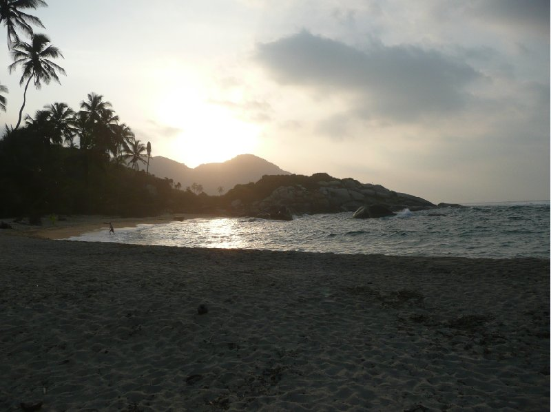 Sunset over Parque Tayrona., Santa Marta Colombia