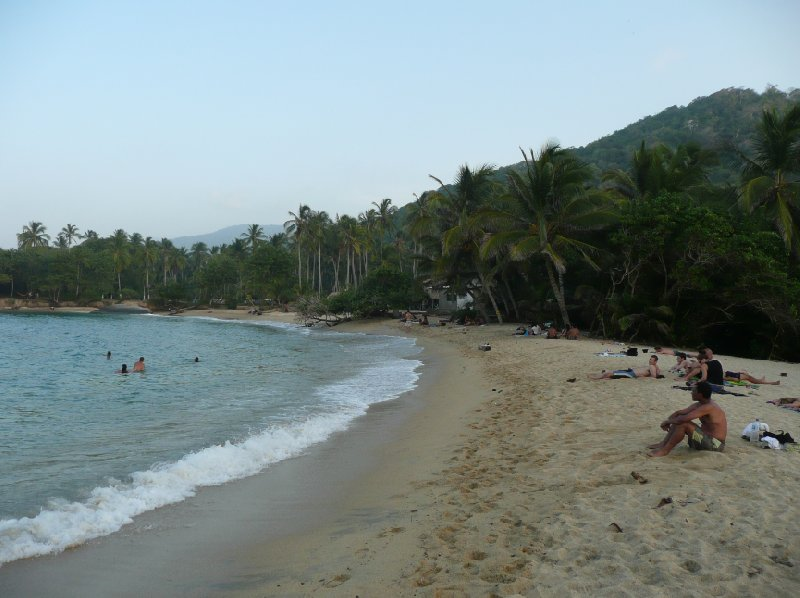 The beaches of Tayrona in Colombia., Colombia