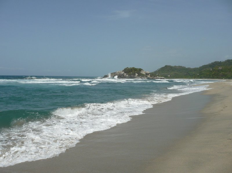 Pictures at the beach in Colombia, tour to the Tayrona Park., Colombia