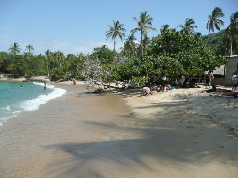 Rainforest beaches in Colombia., Santa Marta Colombia