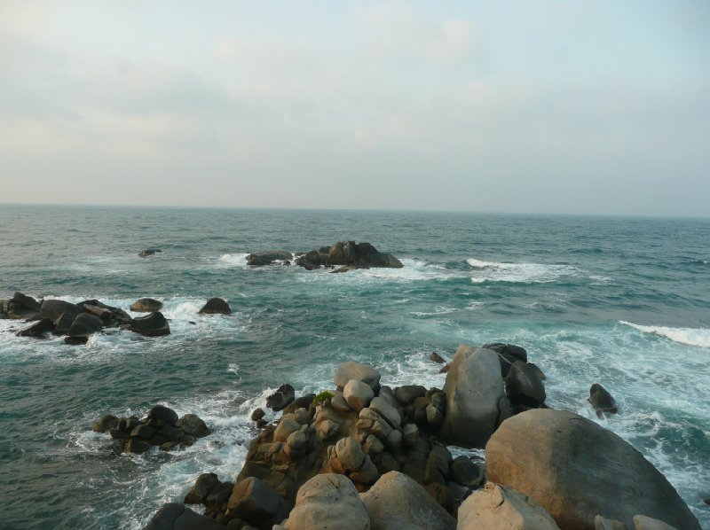 Panormic photos of the coast in North Colombia., Santa Marta Colombia