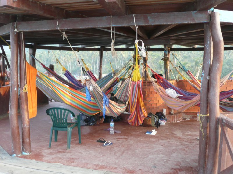 Hammocks for rent at Camping Paraiso, Parque Tayrona., Colombia