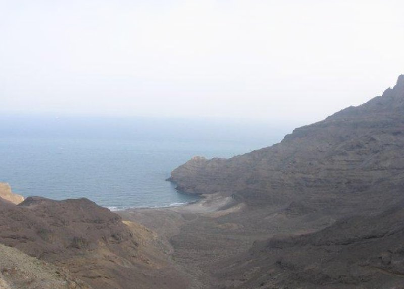 The coastal cliffs of Aden, Yemen, Yemen