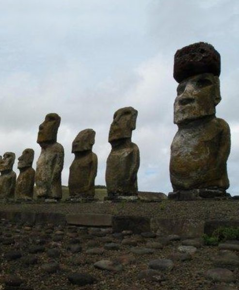 Moai sculptures Rapa Nui, Easter Island, Chile