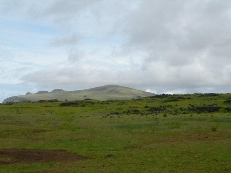 The green valleys of Easter Island, Chile