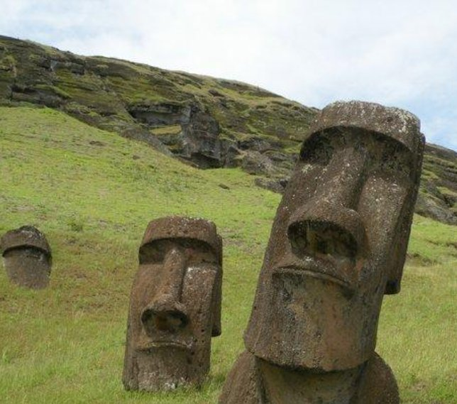 Easter Island Chile Moai sculptures on Easter Island, Chile