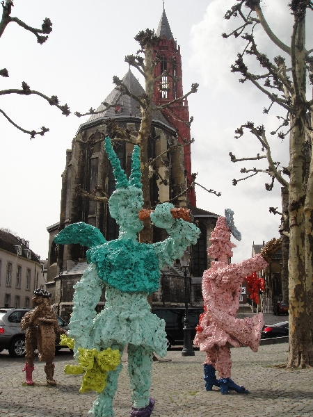 Public art exposition on Vrijthof Square in Maastricht, The Netherlands, Maastricht Netherlands