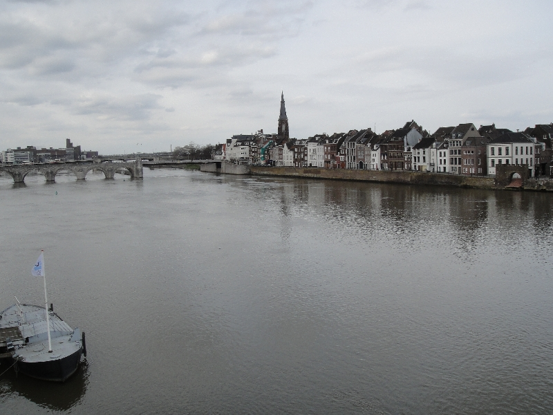 Panoramic View of the Maas river in Maastricht, Netherlands