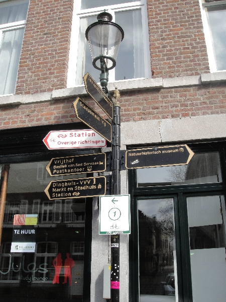Street signs and tourist attractions in Maastricht, The Netherlands, Netherlands