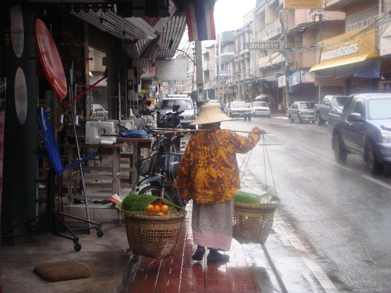 Thai street vendor in Chiang Mai, Thailand