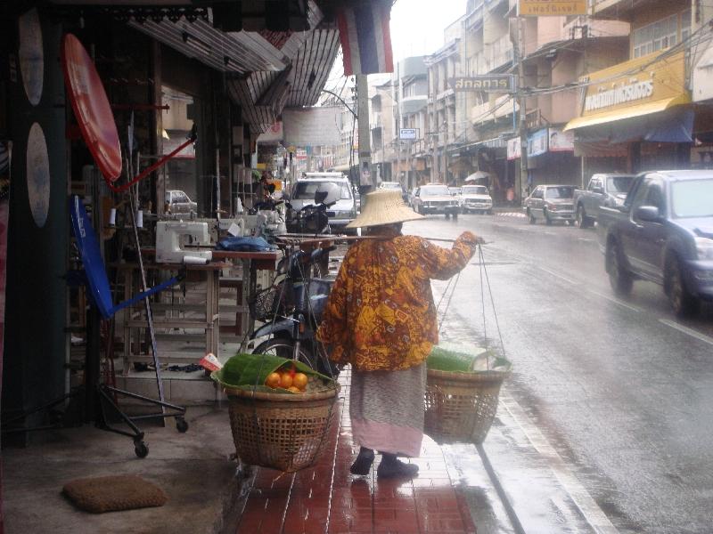 Chiang Mai Thailand Thai street vendor in Chiang Mai