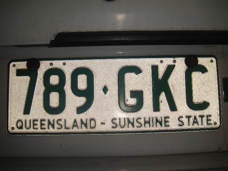 Queensland, Sunshine State License Plate Australia, Australia