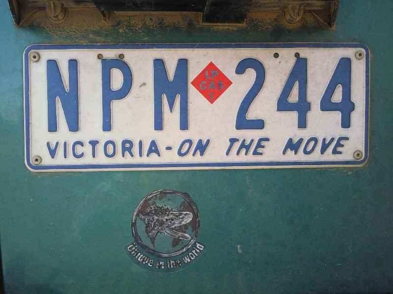 Victoria On The Move License Plate Australia, Canberra Australia