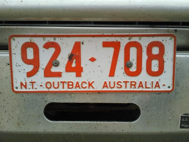 Northern Territory Outback Australia License Plate , Australia