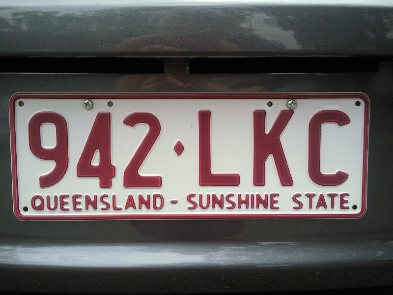 Canberra Australia Queensland Sunshine State License Plate