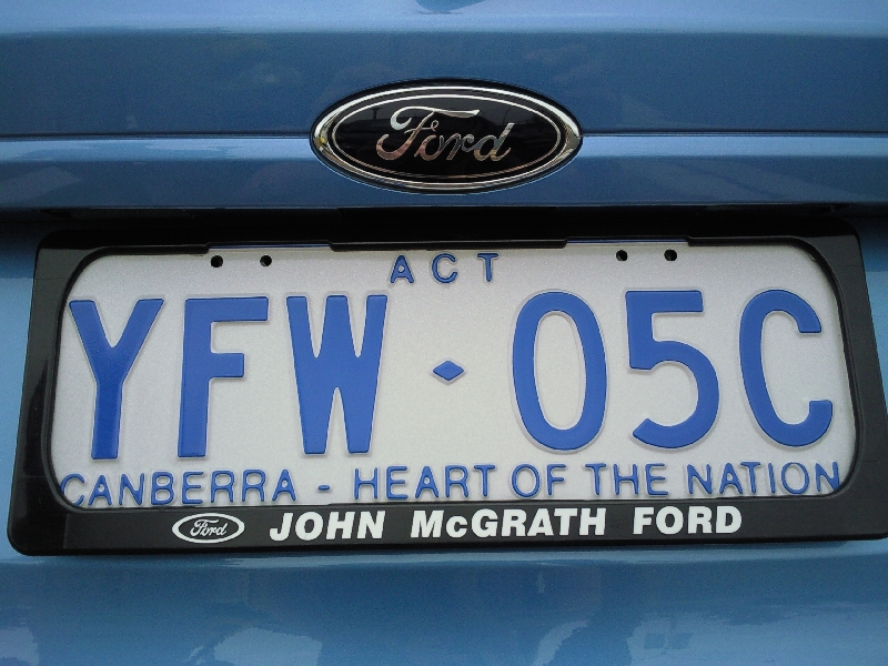 Canberra Heart of the Nation License Plate Australia, Australia