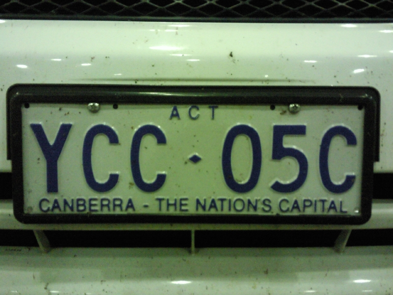 Canberra The Nations Capital License Plate Australia, Canberra Australia