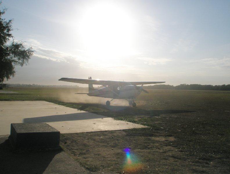 Skydive plane in Cordoba, Argentina