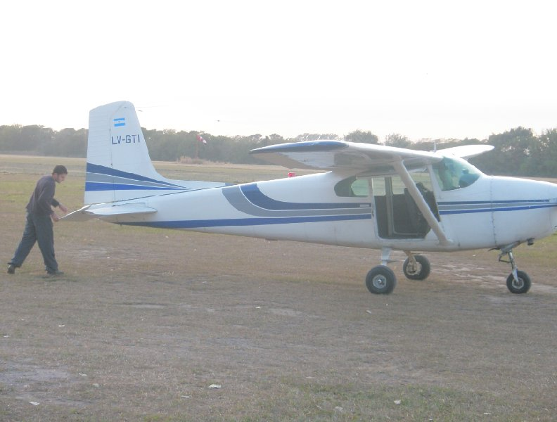 The plane for our skydive tandem jump in Cordoba, Cordoba Argentina