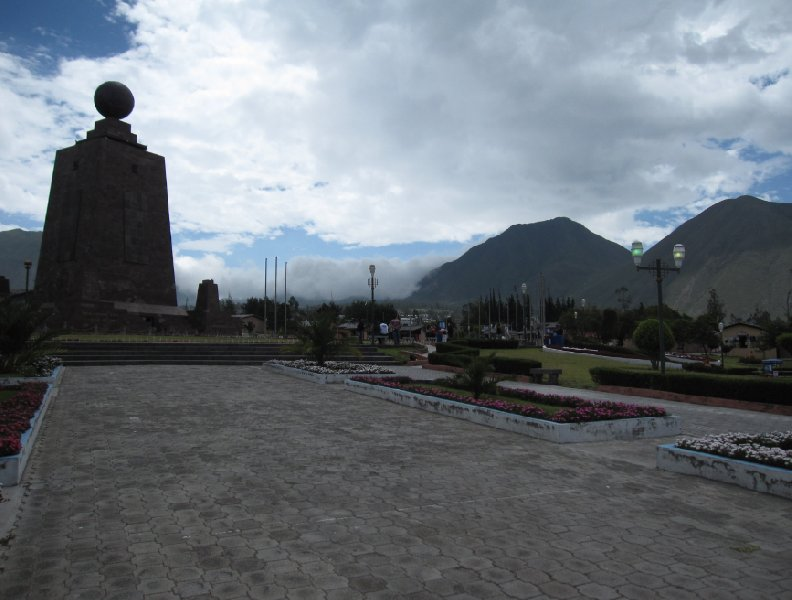 The monument at La Mitad del Mundo, Ecuador