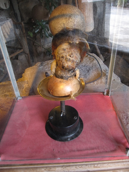 Traditional pieces at the Museo Inti Nan, Ecuador