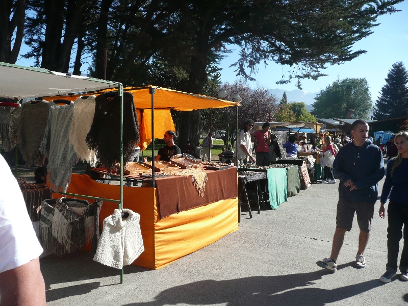 The local hippie market of EL Bolson, Argentina, Argentina