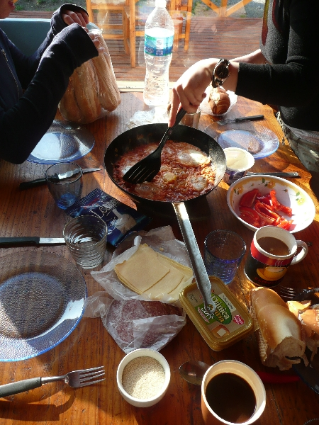 A typical Argentinian breakfast, El Bolson Argentina