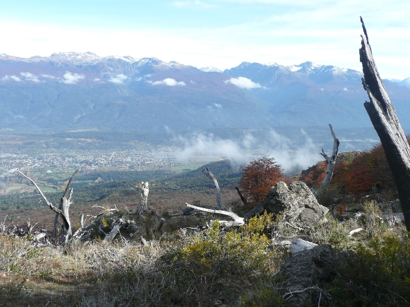 View of El Bolson from the Piltriquitron mountain, Argentina
