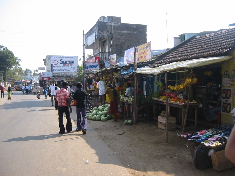 Fruit markets in Mahabalipuram, India, Mahabalipuram India